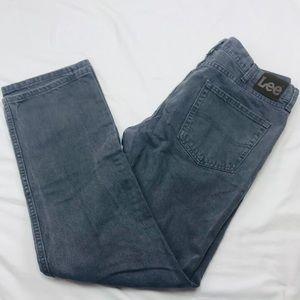 LEE 38 x 32 gray denim jeans